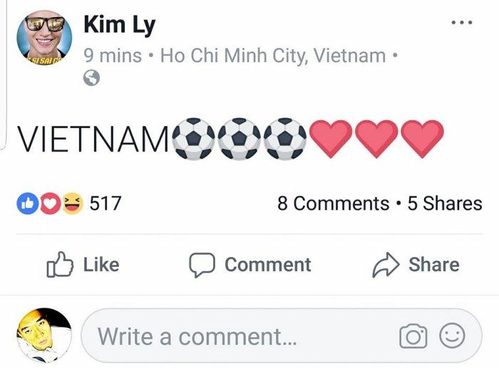 Ho Ngoc Ha, Pham Huong vo oa truoc chien thang lich su cua doi tuyen U23 Viet Nam hinh anh 9