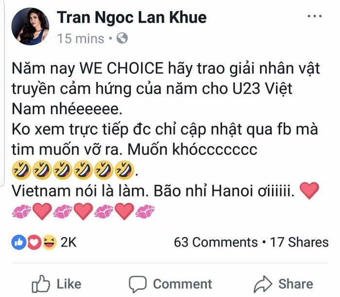 Ho Ngoc Ha, Pham Huong vo oa truoc chien thang lich su cua doi tuyen U23 Viet Nam hinh anh 10
