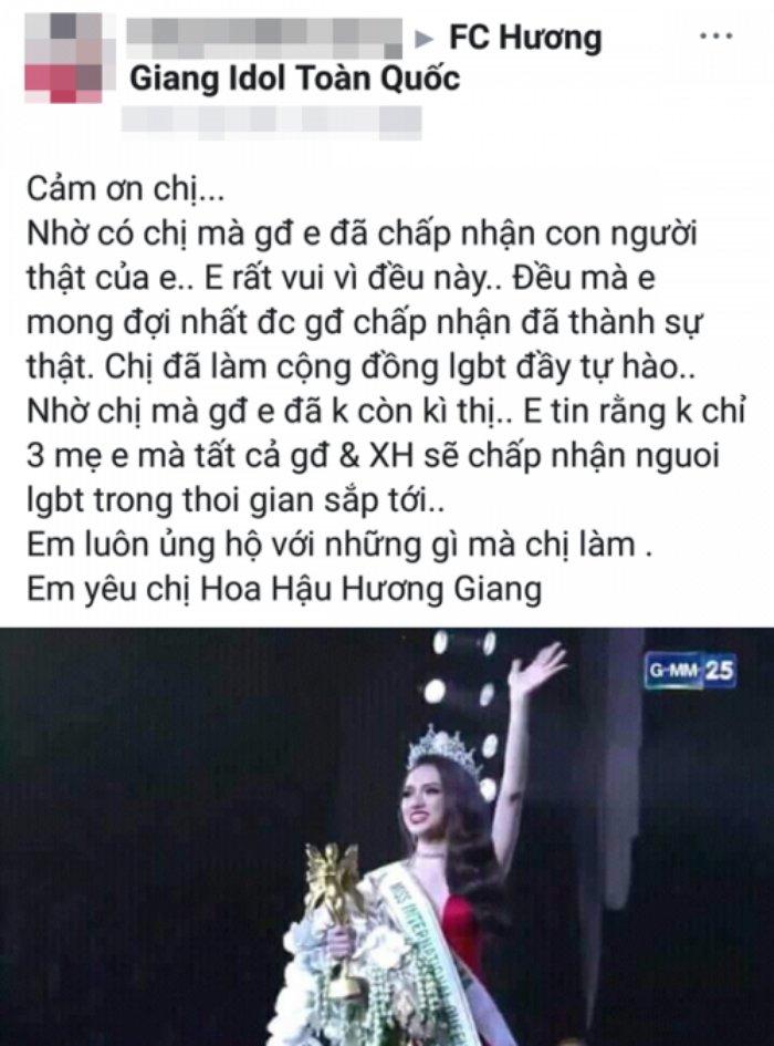 Fan viet thu cho Huong Giang: 'Nho chi ma gia dinh chap nhan gioi tinh that cua em' hinh anh 2
