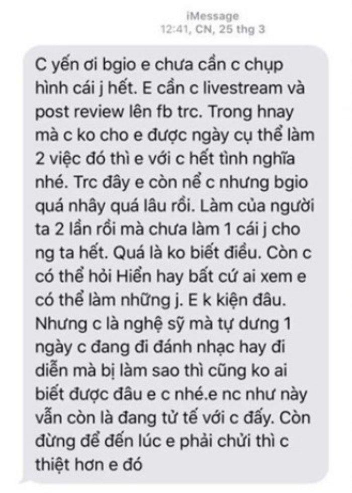 Bi Vo Hoang Yen to thue giang ho de doa, A khoi Dieu Linh len tieng hinh anh 2