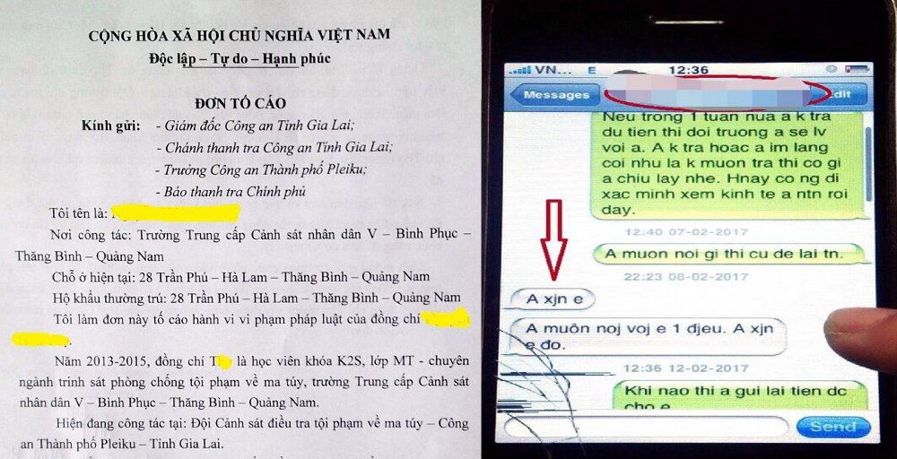 Giao vien truong canh sat to trung uy cong an 'quyt tien' hinh anh 1