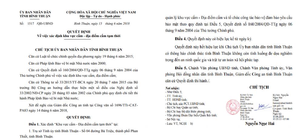 Binh Thuan tam xac dinh khu vuc cam tai tru so Tinh uy, UBND va HDND tinh hinh anh 1