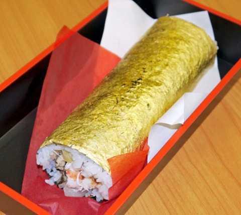 Khach sanh an chi 2,1 trieu dong mua sushi cuon vang la hinh anh 2