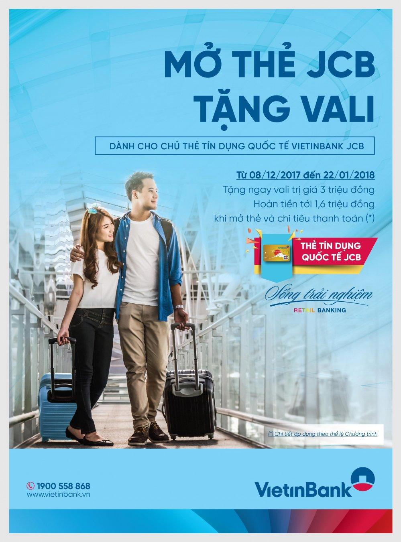 VietinBank uu dai 'Mo the JCB - Tang vali' hinh anh 1