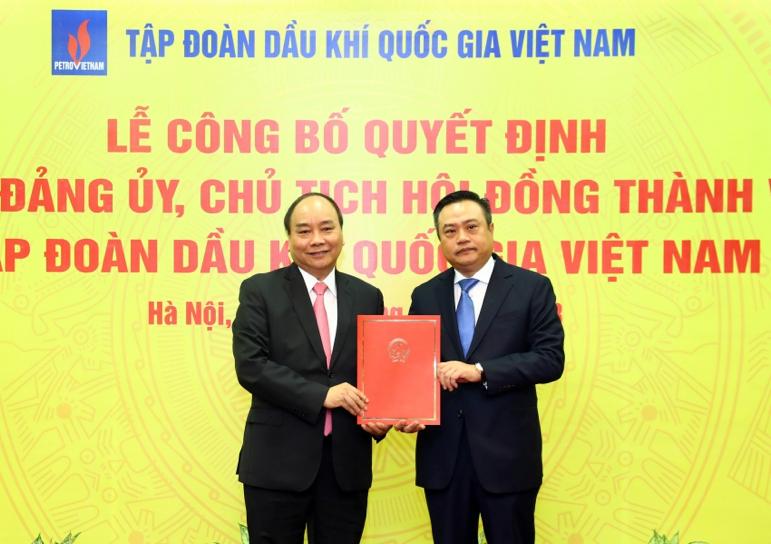 Cong bo Quyet dinh Bi thu Dang uy, Chu tich Hoi dong Thanh vien Tap doan Dau khi Quoc gia Viet Nam hinh anh 2