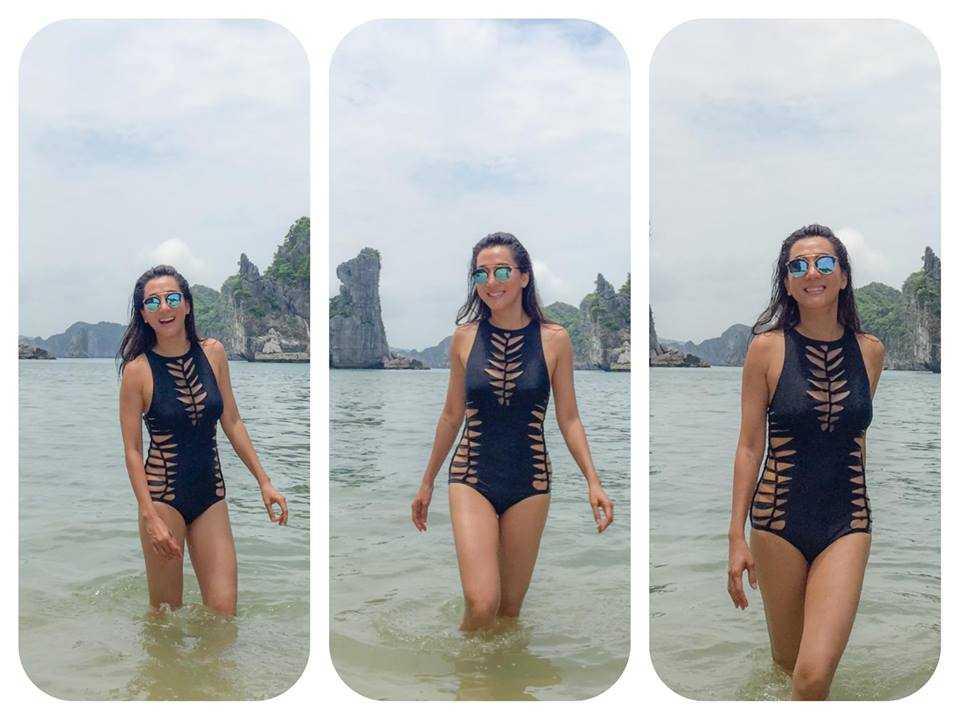 MC Nguyen Cao Ky Duyen mac bikini, khoe than hinh goi cam o tuoi 51 hinh anh 4