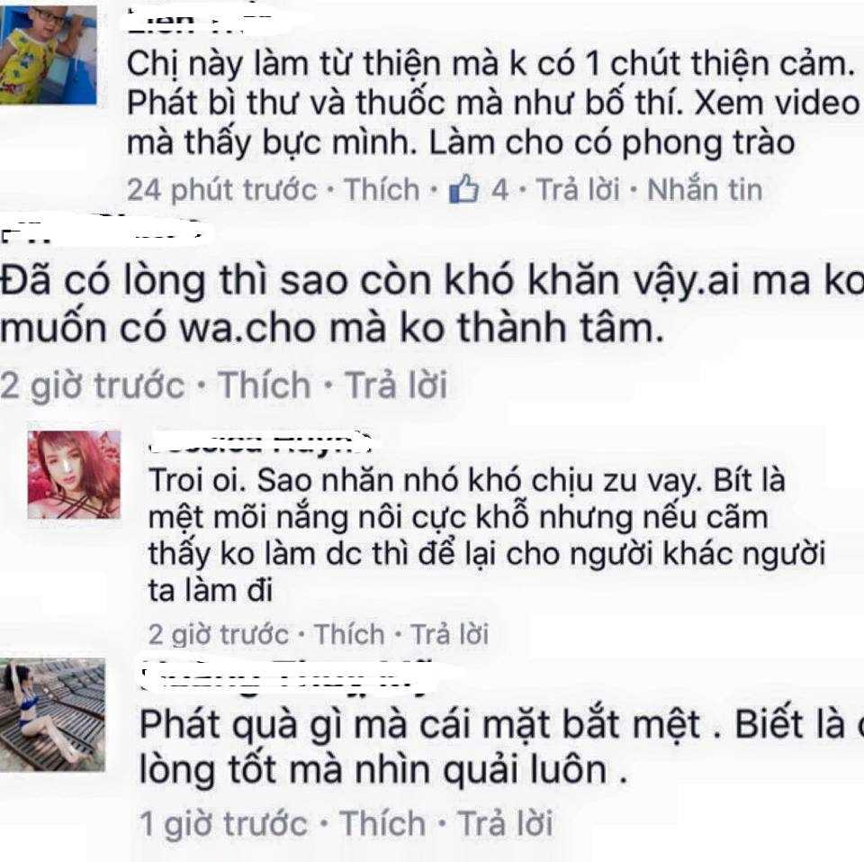 Bi chi trich vi thai do 'nhan nho' khi lam tu thien, Thuy Tien len tieng hinh anh 1
