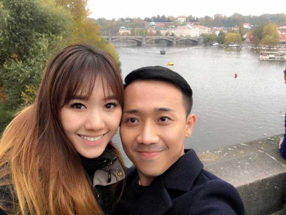 Tran Thanh va Hari Won tinh tu hanh phuc o chau Au hinh anh 2