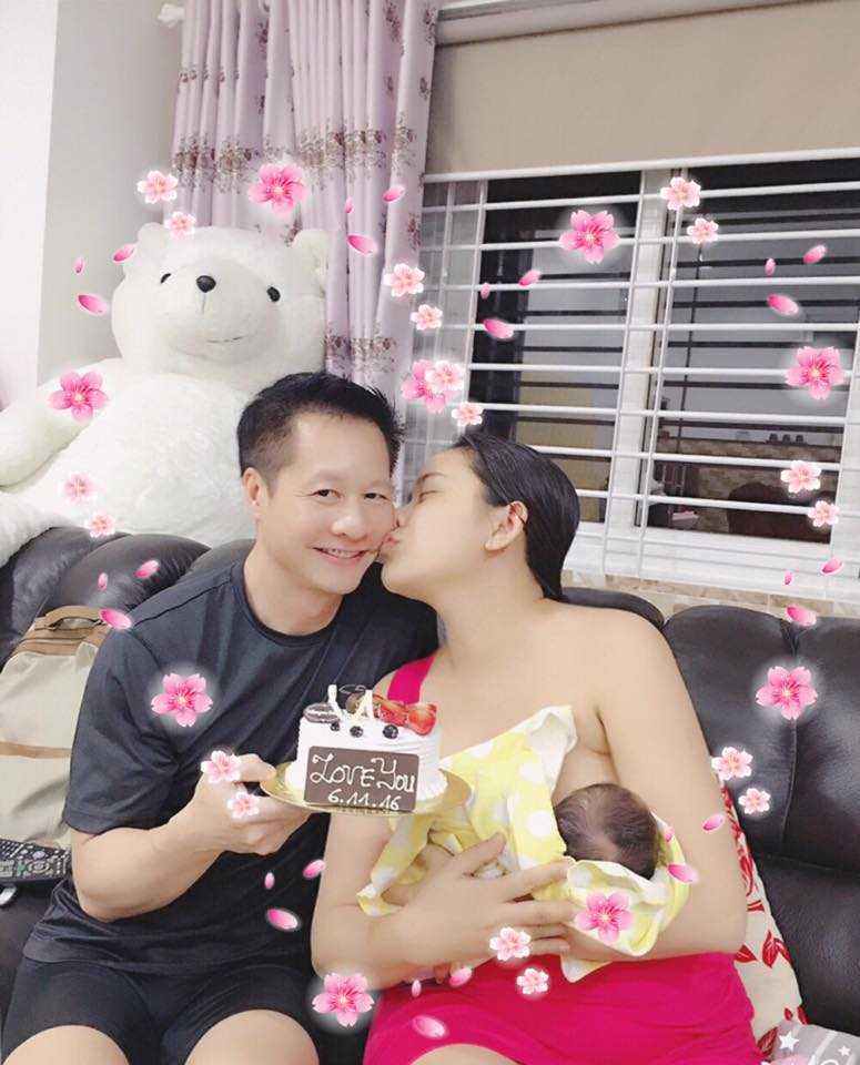 Dai gia Duc An - Phan Nhu Thao lan dau khoe con gai hinh anh 1
