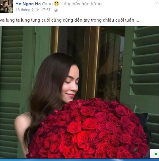 Ho Ngoc Ha hanh phuc khoe qua Valentine, vo Chu Dang Khoa tam su buon hinh anh 1