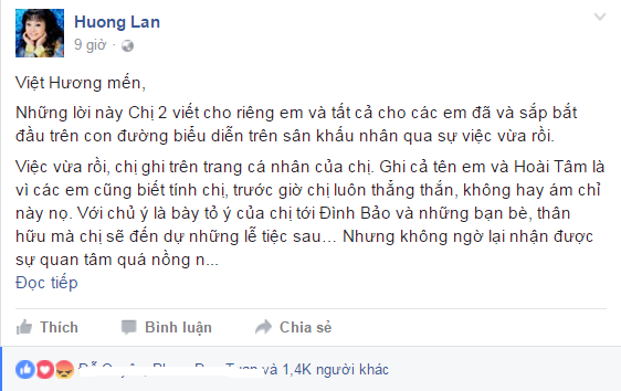 Danh ca Huong Lan nhan nhu Viet Huong: 'Su tho tuc luon la loi khinh re' hinh anh 1