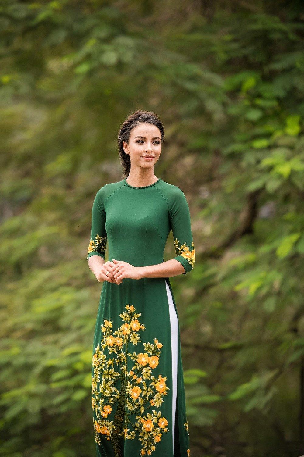 Hoa hau Phap thuot tha trong ta ao dai dao pho Ha Noi hinh anh 7