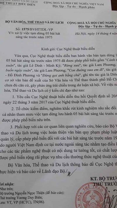 Dieu ky la trong nhung van ban thu hoi cua Bo VH-TT&DL hinh anh 2