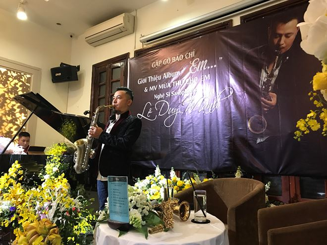 Nghe si saxophone Le Duy Manh ra album dau tay hinh anh 1