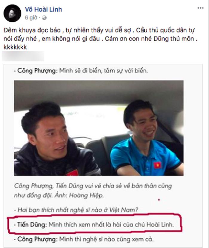 Duoc thu mon Tien Dung ham mo, Hoai Linh noi gi? hinh anh 1