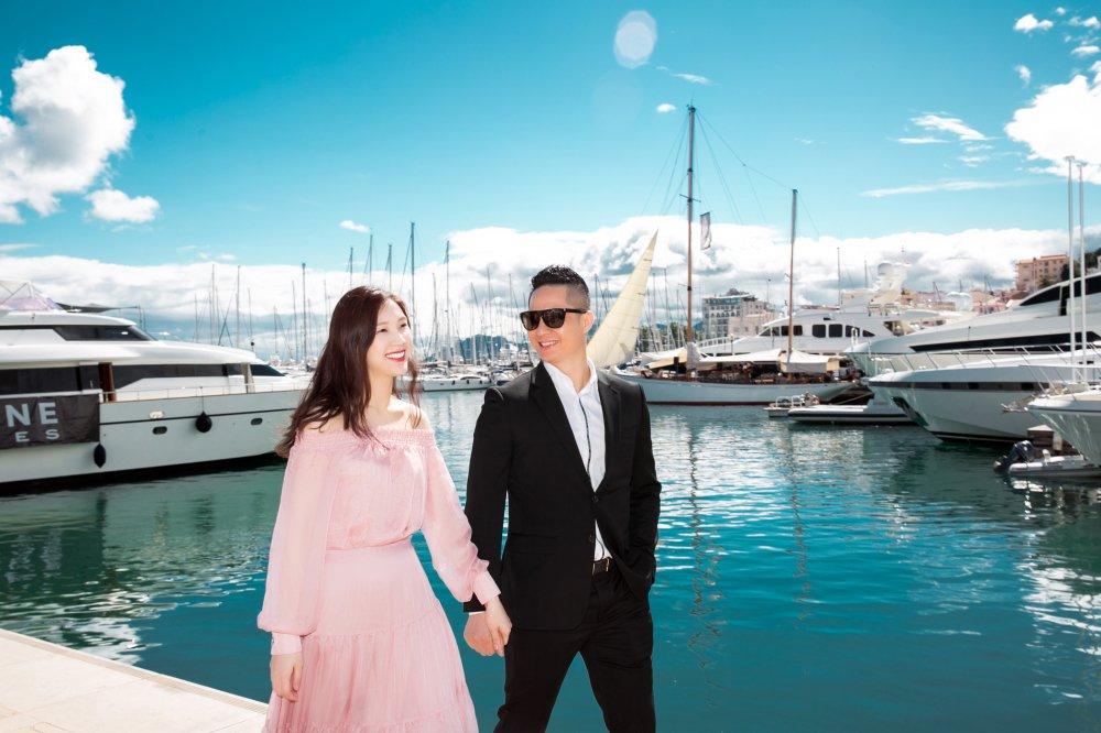 Hoa hau Ao dai 2018 Phi Thuy Linh khoe ong xa doanh nhan dien trai hinh anh 2