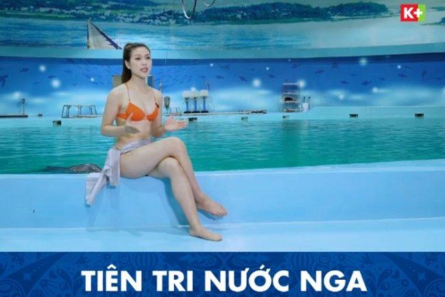 Video: MC kenh truyen hinh Viet mac bikini dan World Cup bi chi trich du doi hinh anh 1