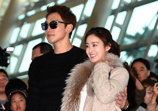 Kim Tae Hee giu khoang cach khi theo Bi Rain toi Hong Kong hinh anh 2