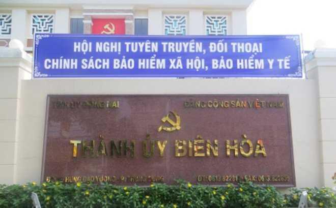 Khai tru Dang nguyen Truong ban To chuc Thanh uy Bien Hoa hinh anh 1