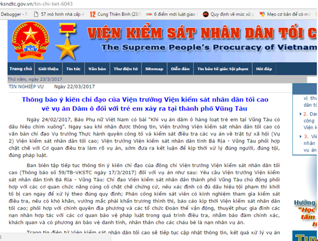 Dam o tre em o Vung Tau: Vien Kiem sat nhan dan Toi cao chi dao moi nhat hinh anh 1