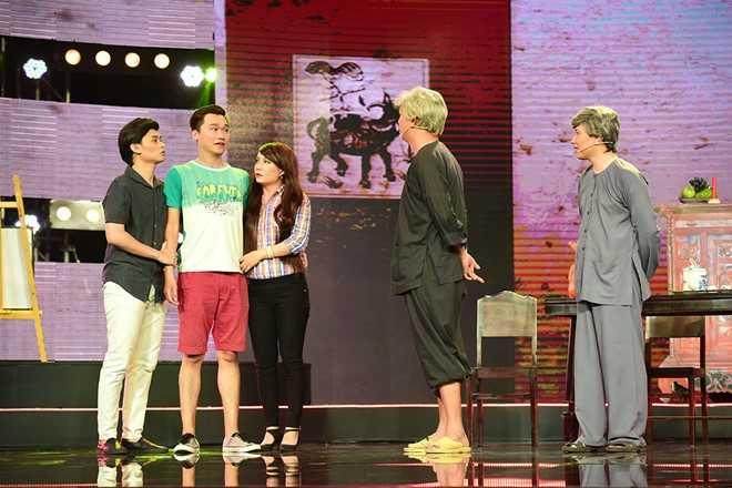 Tran Thanh che hoc tro Hoai Linh dien hai vo van hinh anh 6