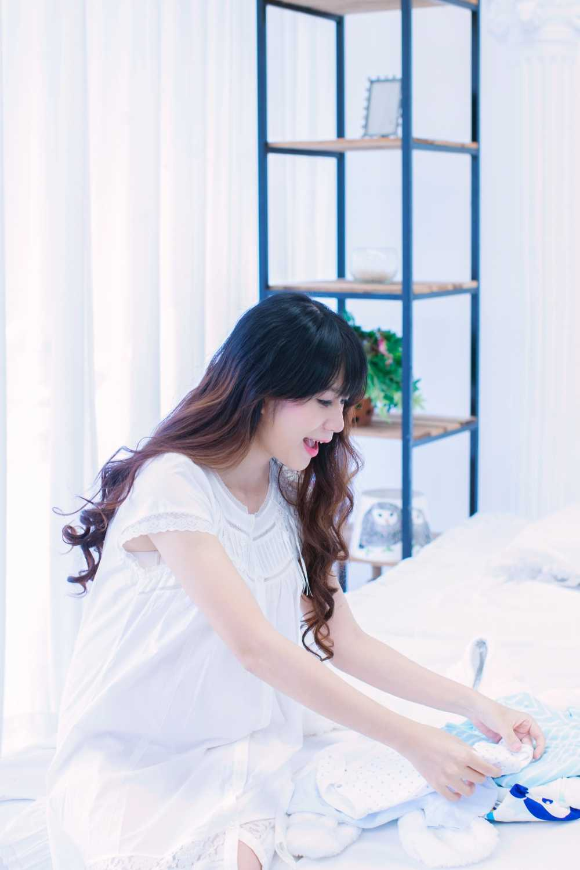 Mang thai lan 4, Minh Ha van giu nhan sac hot girl dang ghen ti hinh anh 1