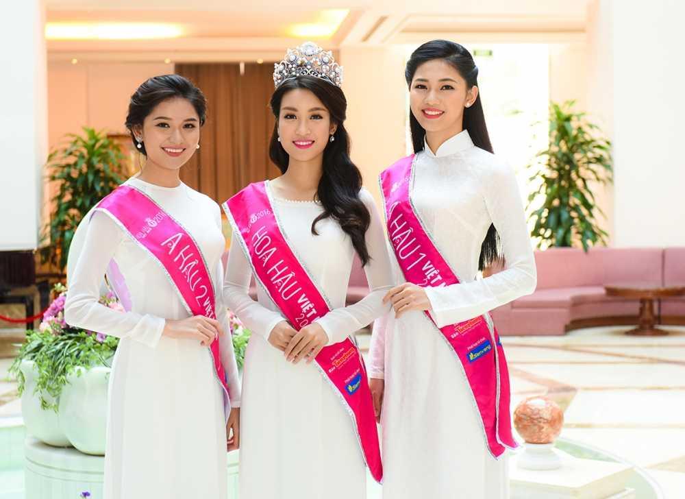Tan Hoa hau va hai A hau Viet Nam 2016 duyen dang trong ta ao dai trang hinh anh 1