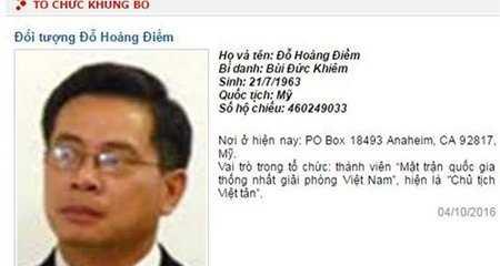 Bo Cong an dua Viet Tan vao danh sach khung bo hinh anh 1
