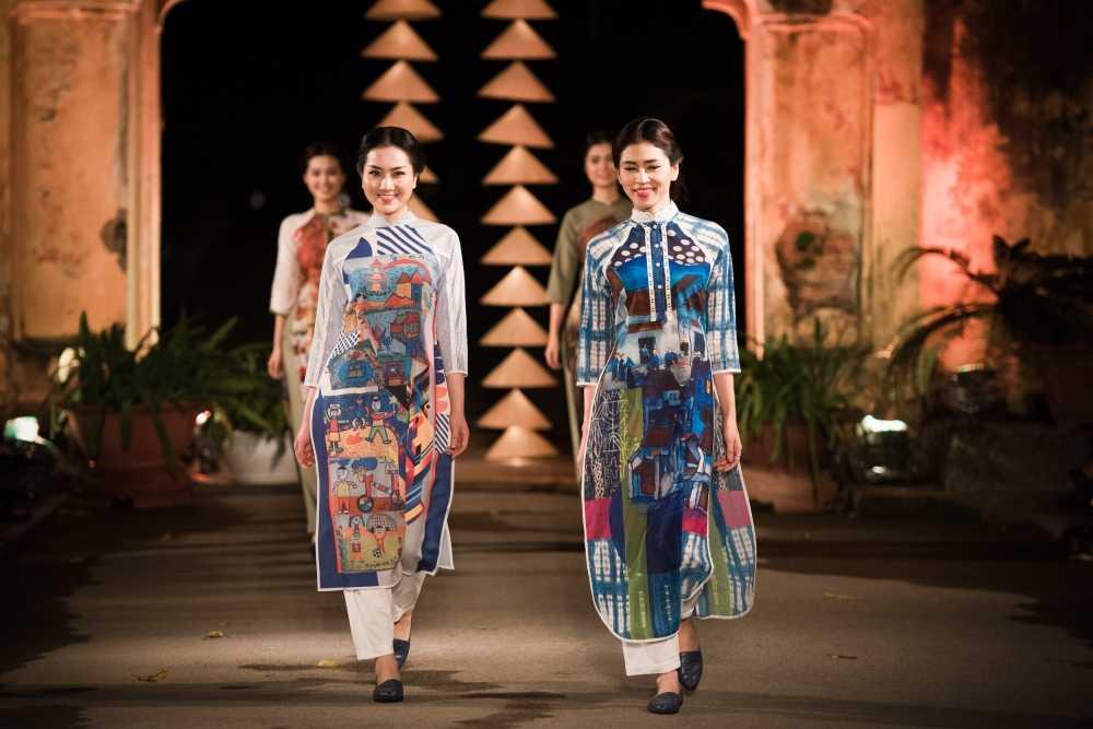 Nha thiet ke Lan Huong theu cong lang Ha Noi len lua du 'Festival Ao dai Ha Noi 2016' hinh anh 5