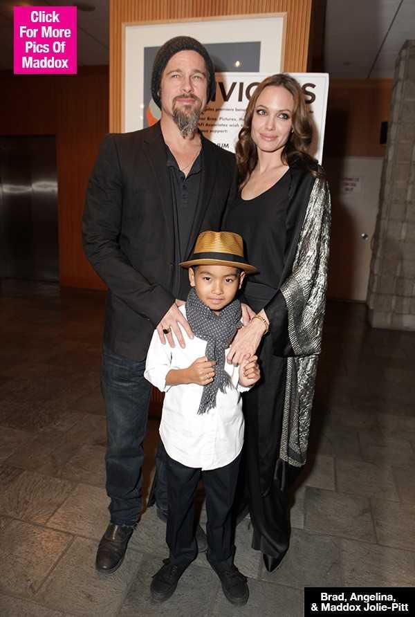 Brad Pitt guc nga khi con trai ca Maddox noi: 'Ong khong phai cha toi' hinh anh 1