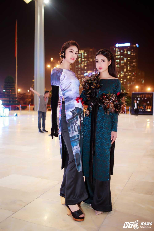 Hoa hau My Linh, A hau Thanh Tu dien ao dai la mat thu hut su chu y hinh anh 2