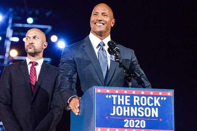Ngoi sao co bap 'The Rock' muon tranh cu tong thong hinh anh 1