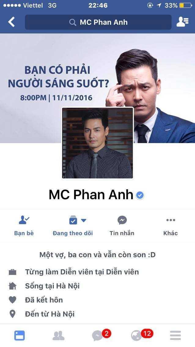 Bi tan cong, MC Phan Anh tam thoi khoa Facebook hinh anh 2