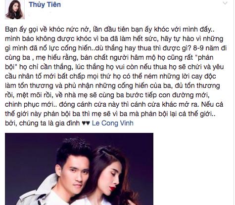 Thuy Tien chi trich nguoi ham mo 'phan boi' khi Cong Vinh that bai hinh anh 1