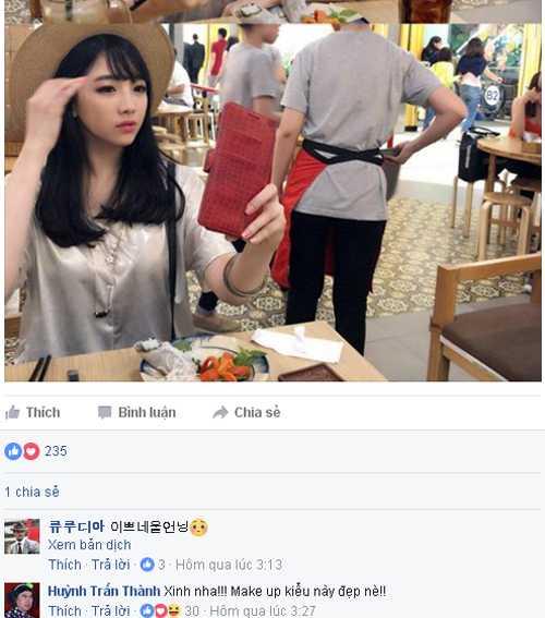 Co em gái xinh xan cua Hari Won bị Trán Thành treu chọc hinh anh 3