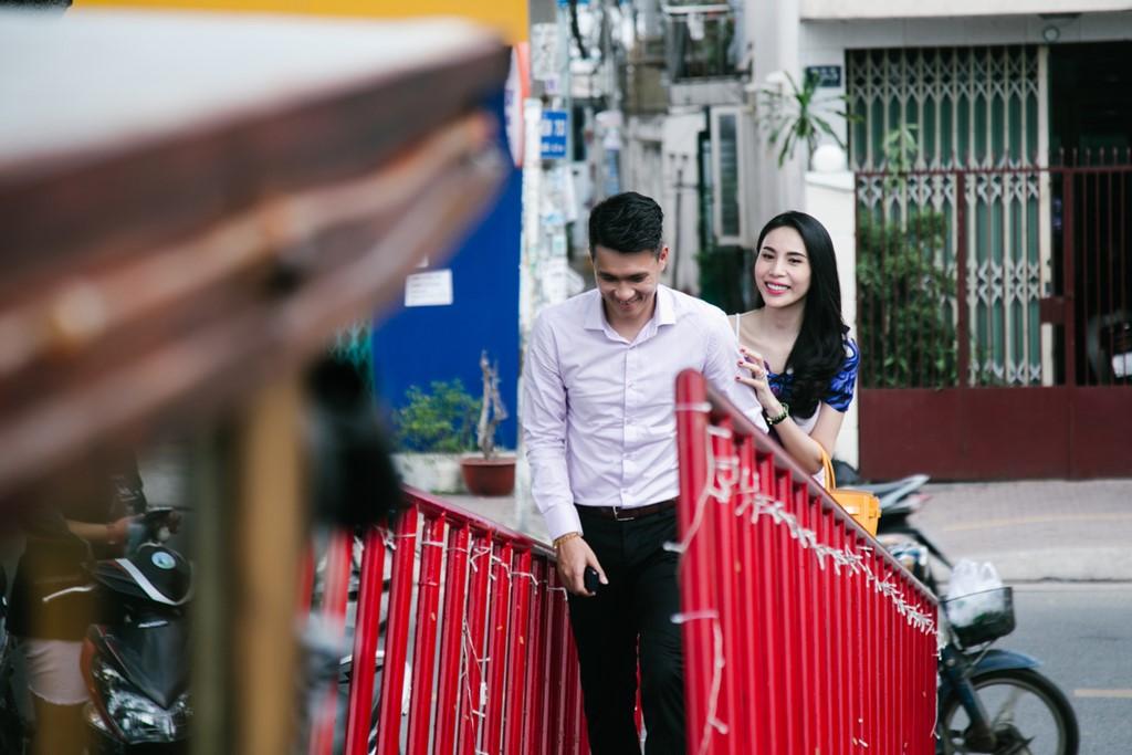 Cong Vinh, Thuy Tien ghi hinh cho kenh truyen hinh nuoc ngoai hinh anh 2