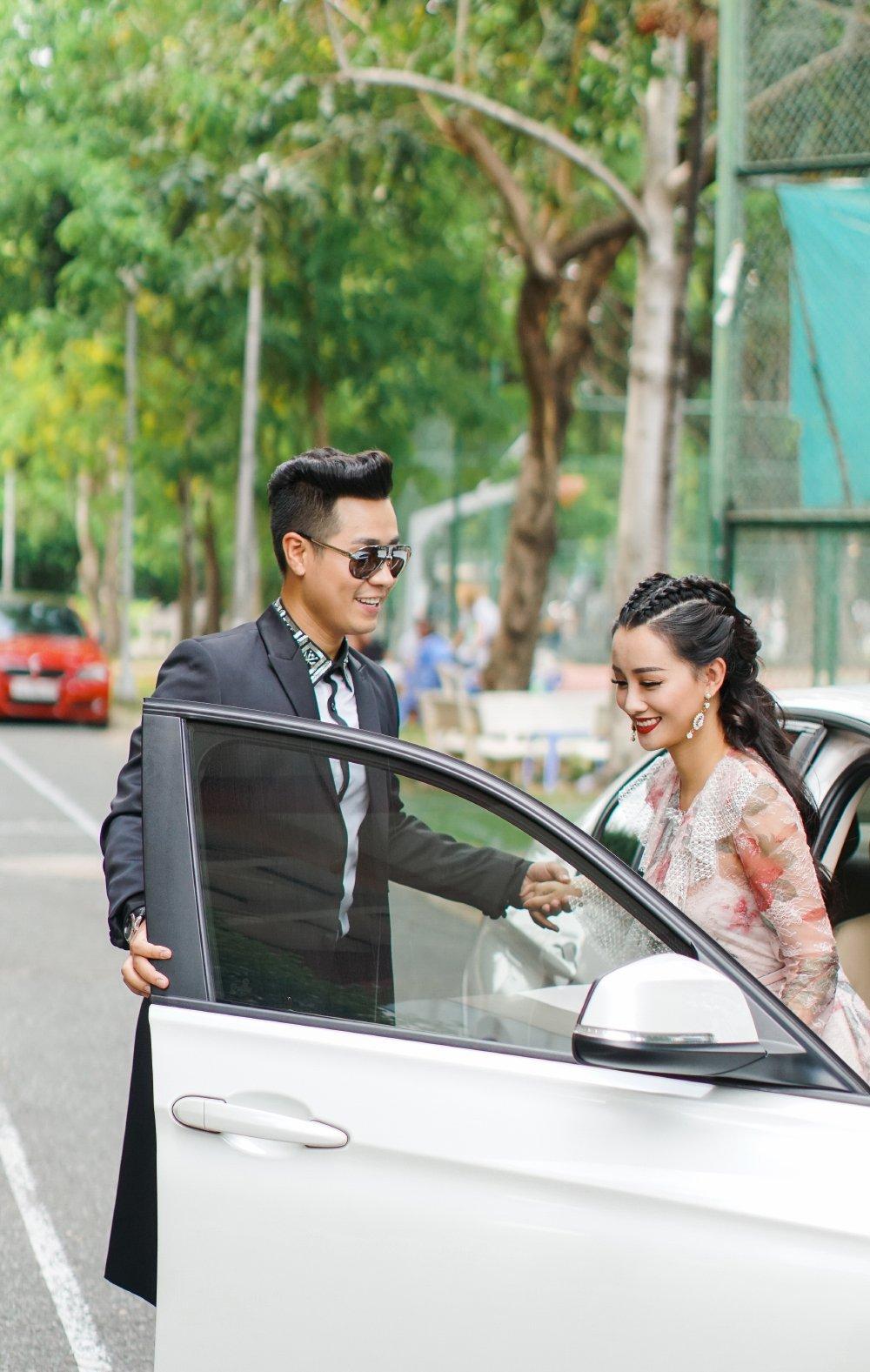 MC Nguyen Khang tinh tu, dua don Quynh Chi bang xe BMW hinh anh 3