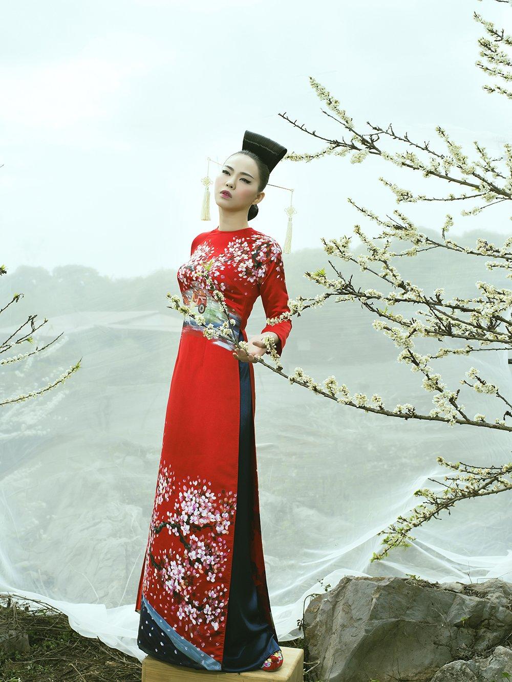 An tuong voi bo suu tap ao dai 'Mua hoa' mang phong cach Nhat Ban hinh anh 13