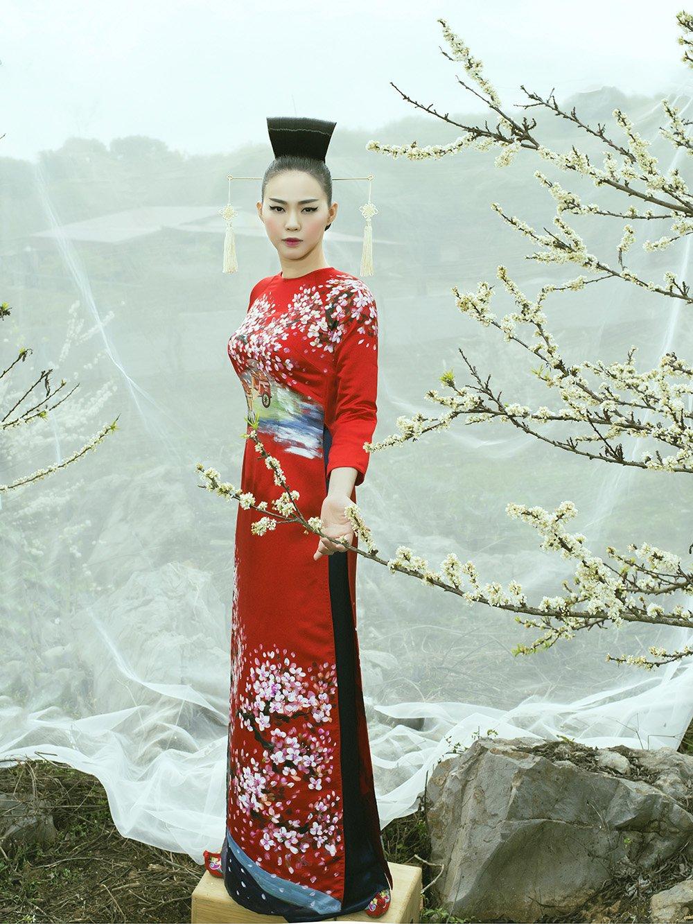 An tuong voi bo suu tap ao dai 'Mua hoa' mang phong cach Nhat Ban hinh anh 14