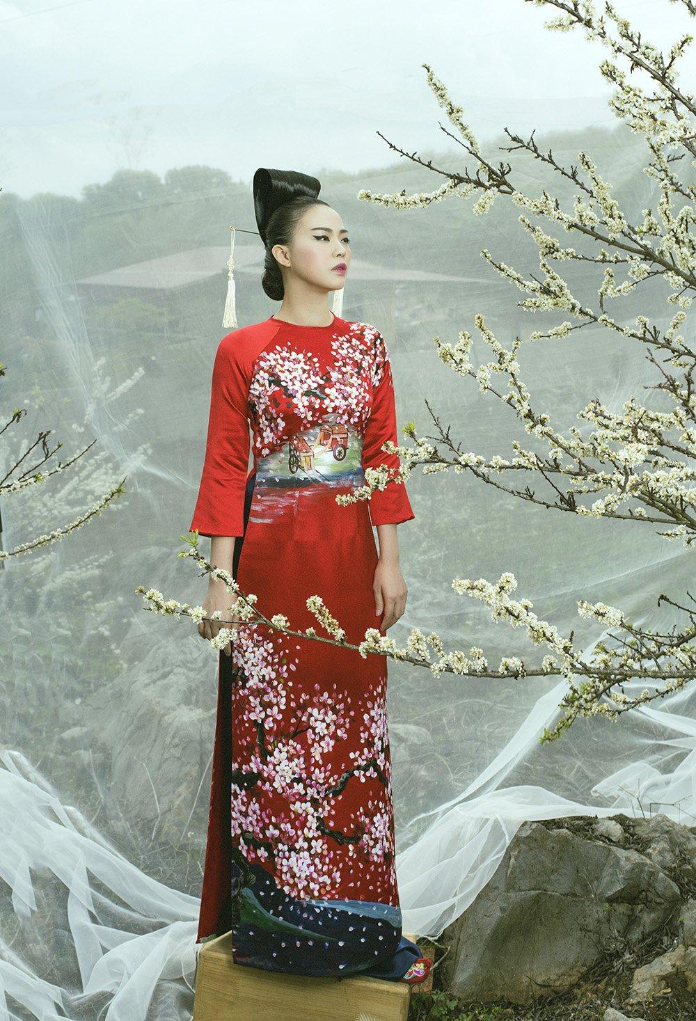 An tuong voi bo suu tap ao dai 'Mua hoa' mang phong cach Nhat Ban hinh anh 11