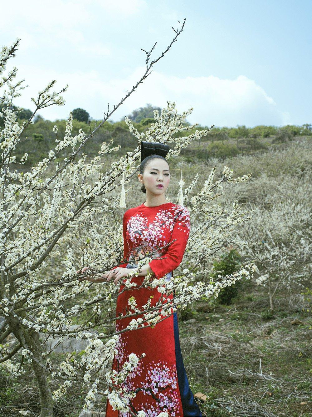 An tuong voi bo suu tap ao dai 'Mua hoa' mang phong cach Nhat Ban hinh anh 12