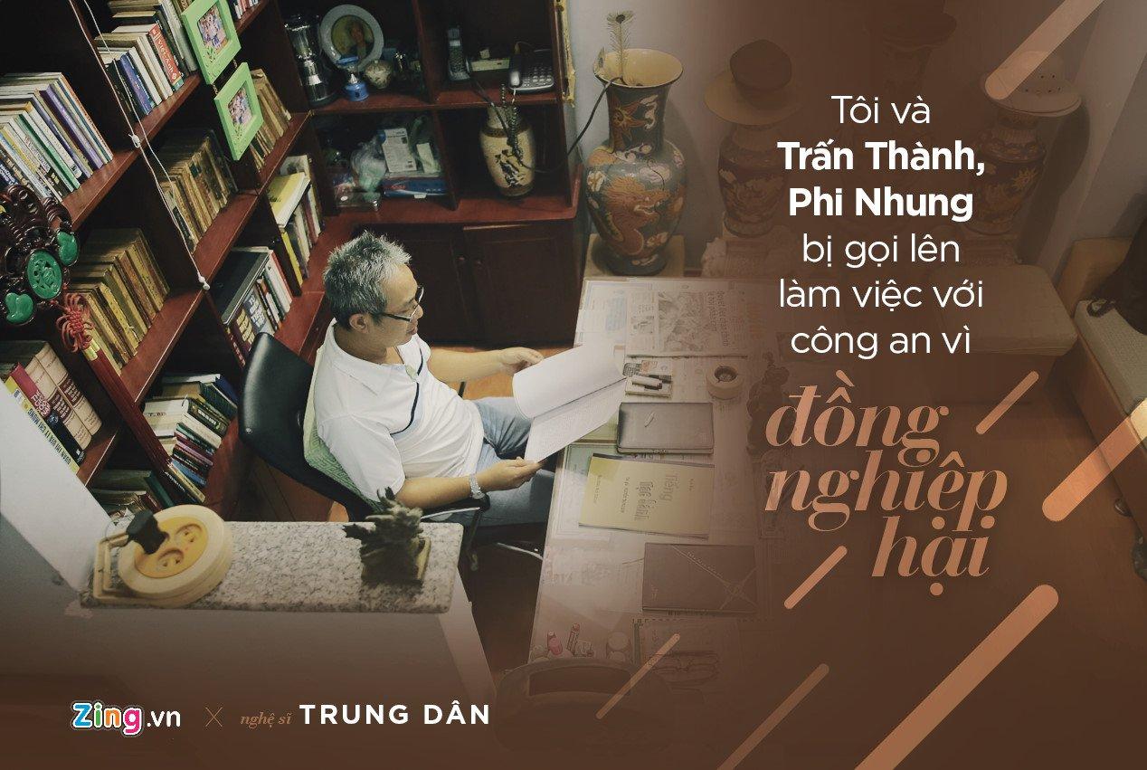 Trung Dan: 'Toi va Tran Thanh nhieu lan bi cong an moi len lam viec' hinh anh 2