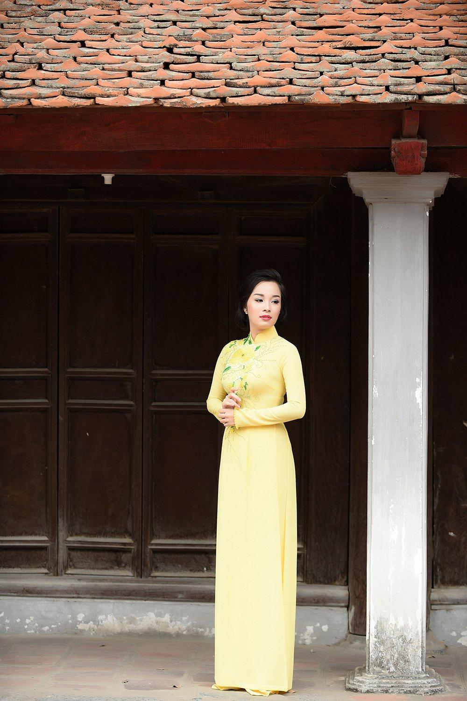 Minh Huong 'Nhat ky Vang Anh' dam tham voi ao dai truyen thong hinh anh 9