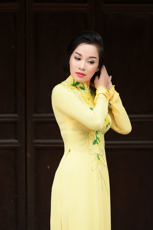 Minh Huong 'Nhat ky Vang Anh' dam tham voi ao dai truyen thong hinh anh 8