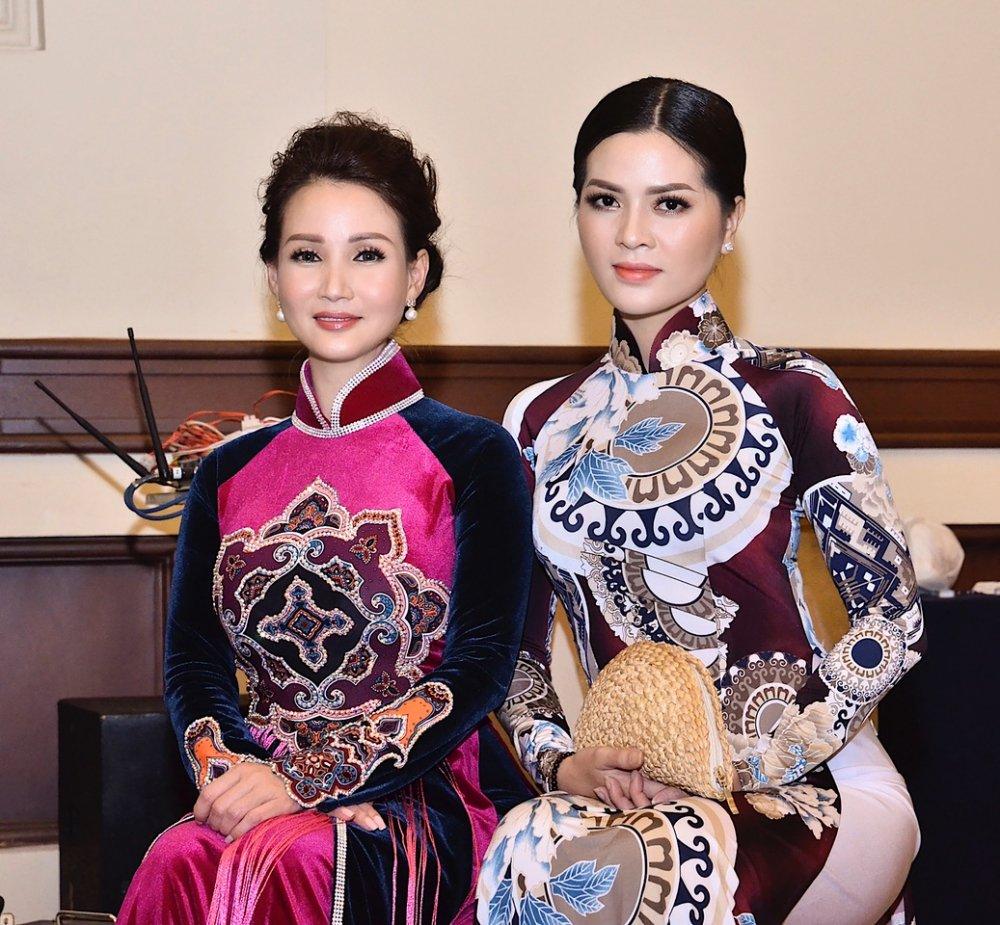 Viet Trinh, Hoa hau Suong Dang dep man ma trong trang phuc ao dai hinh anh 5
