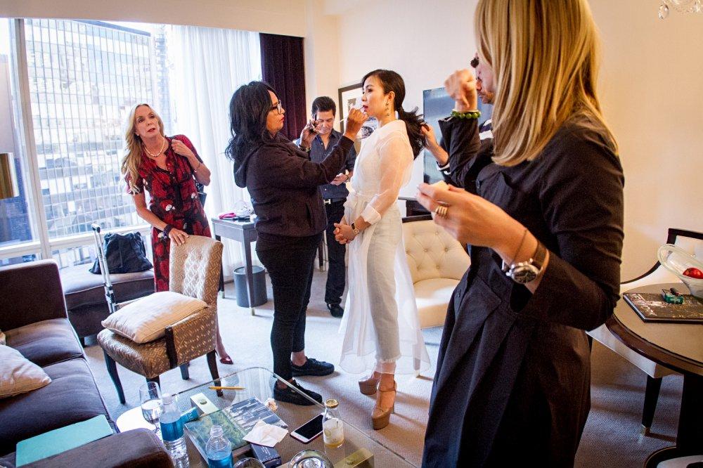 CEO Elise Luu Nga ngoi cung hang Paris Hilton xem thoi trang tai New York hinh anh 1