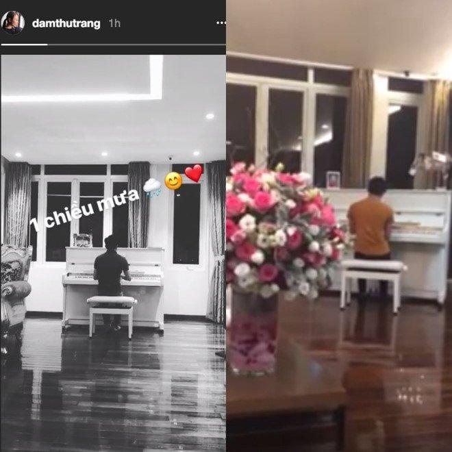Cuong Do La choi dan piano tang ban gai moi Dam Thu Trang hinh anh 1