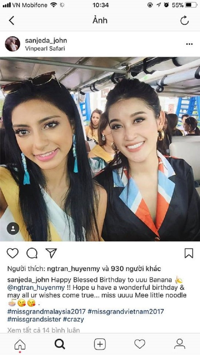 Huyen My hanh phuc khi duoc cac Hoa hau tren the gioi chuc mung sinh nhat hinh anh 5