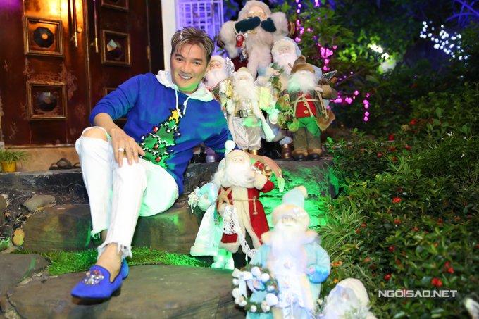 Dam Vinh Hung trang tri biet thu mua Noel hoanh trang khien nhieu nguoi 'choang' hinh anh 16