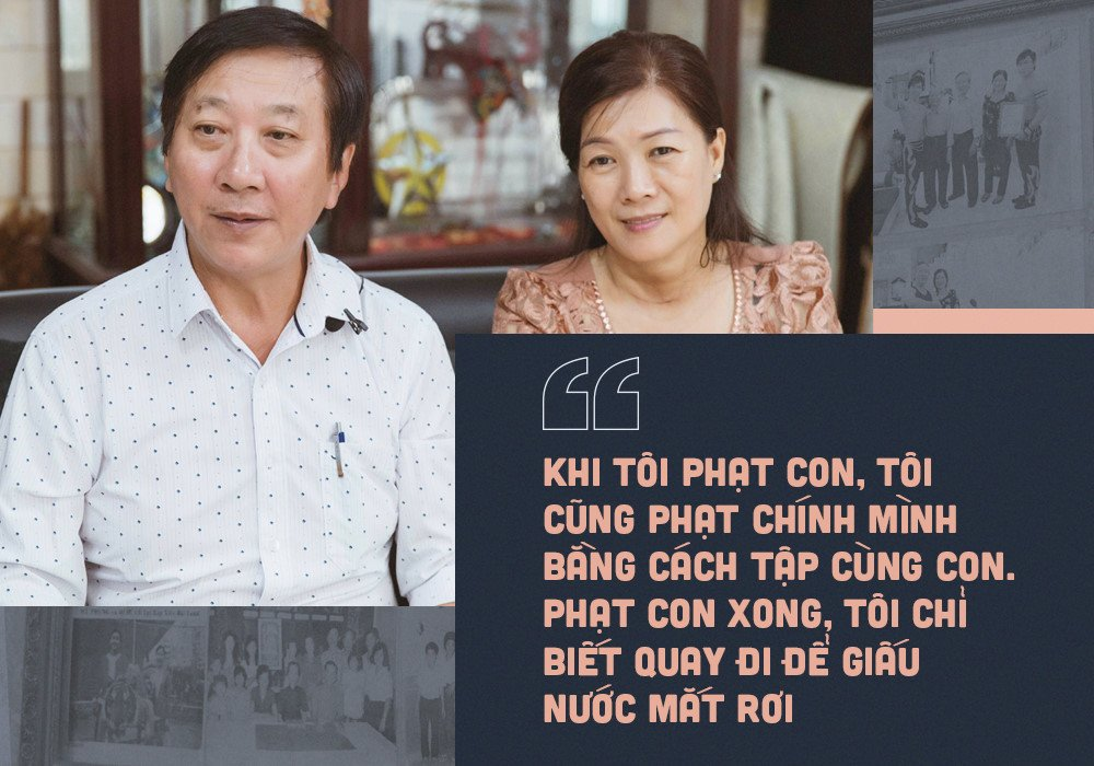 Cha me Quoc Co - Quoc Nghiep: 'Hai con so, ghet toi vi ep tap tu be' hinh anh 1